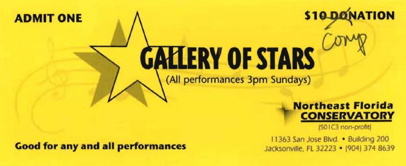 Ticket for Gallery of Stars
