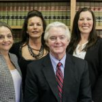 Ellis Fernandez, III, Ruth Wisecarver, Melissa Hunter and Maryanne Durden with Book Shelf Behind