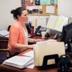 Melissa Hunter Working at a Computer