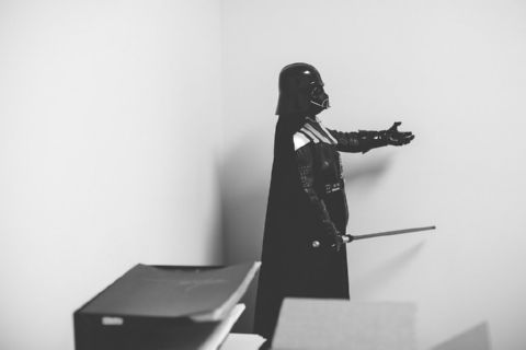 Darth Vader on a Desk