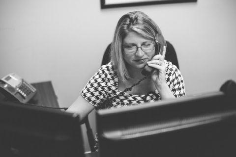 Cindy Coffey on the Phone