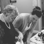 Melissa Hunter and Kathleen Sesco Looking at Files