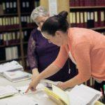 Melissa Hunter and Kathleen Sesco Working